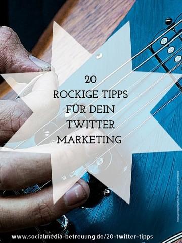 20 Twitter Tipps
