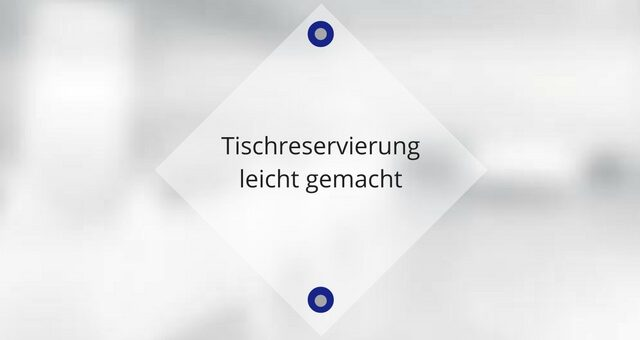 Tischreservierung leicht gemacht – Resmio macht´s möglich!