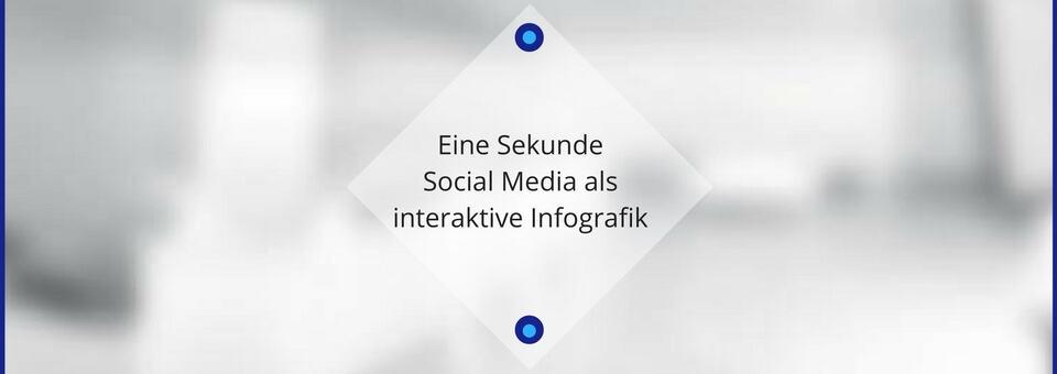 Eine Sekunde Social Media als interaktive Infografik