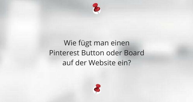 Pinterest Follow me Button oder Board auf der Website einfügen – so gehts
