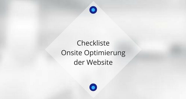Checkliste Onsite Optimierung der Website