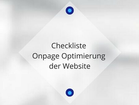 Checkliste Onpage Optimierung der Website