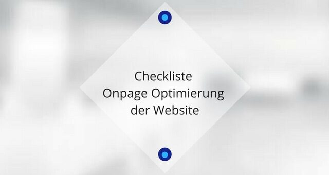 Checkliste Onpage Optimierung der Website