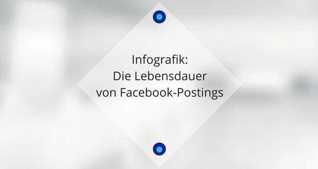 Infografik: Die Lebensdauer von Facebook-Postings