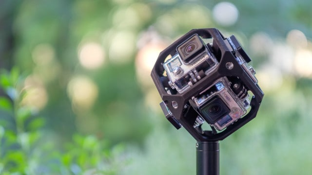 Freedom360-Rig mit 6 GoPro HERO4 Black Kameras