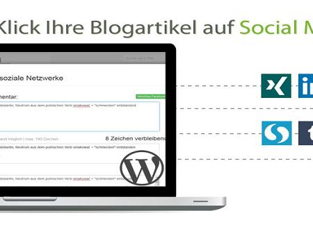 Blog2Social: WordPress Beiträge im Social Web teilen