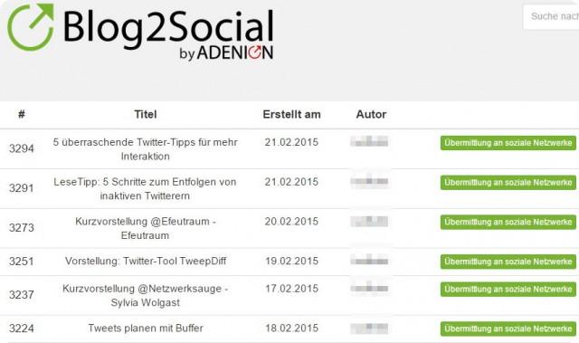 Blog2Social_Liste