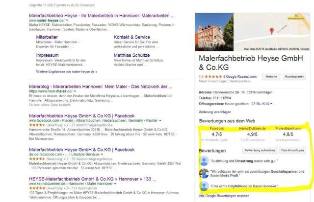 google-ergebnis-von-malerfachbetreieb-heyse-aus-hannover