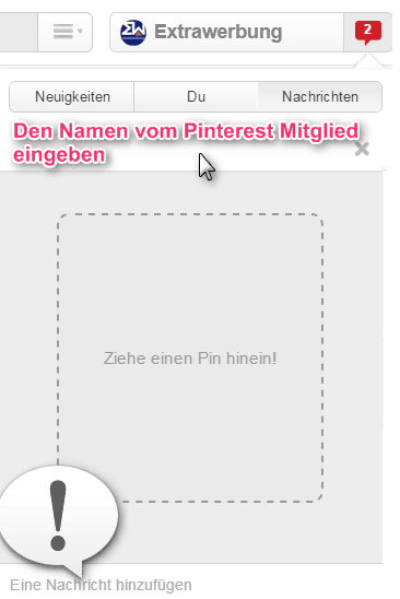 Pinterest_Nachricht_verschicken