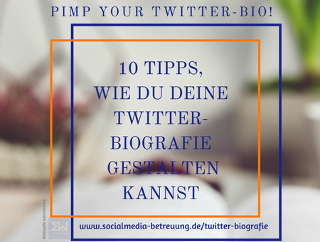 10+ Tipps wie du deine Twitter-Biografie aufpimpen kannst