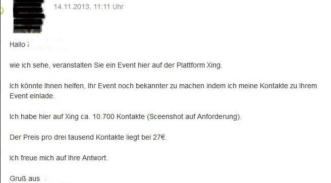 Xing_Kontakte_für_eine_Veranstaltung_verkaufen