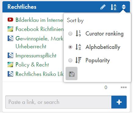 Zeef_Link_alphabetisch