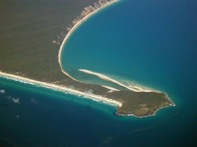 Fotoquelle: Double Island Point Queensland in Aerial View - www.photoeverywhere.co.uk