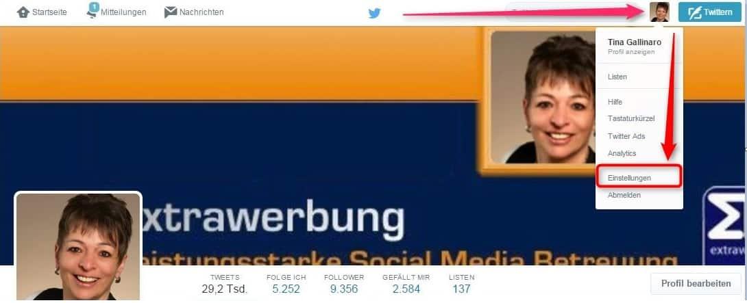 twitter-profil-einstellungen