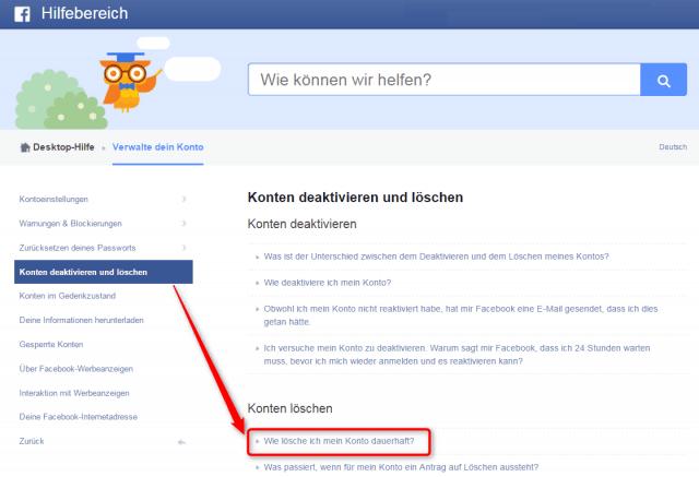 wie-kann-das-facebook-konto-geloescht-werden